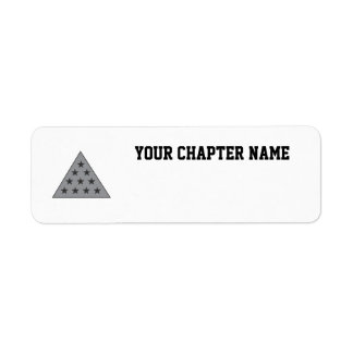Gris de la pirámide de la sigma pi etiqueta de remite