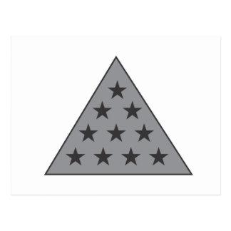 Gris de la pirámide de la sigma pi postal