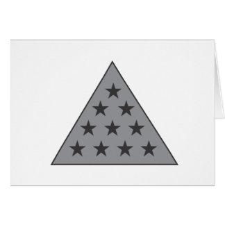 Gris de la pirámide de la sigma pi tarjeta de felicitación