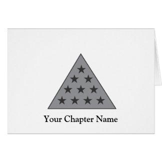 Gris de la pirámide de la sigma pi tarjeta pequeña