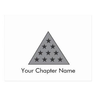 Gris de la pirámide de la sigma pi tarjetas postales