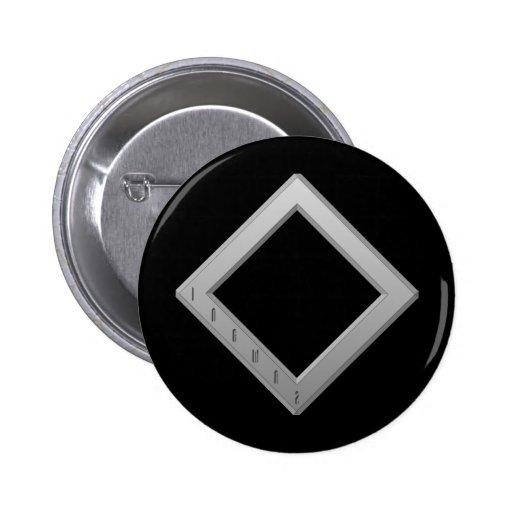 Gris de la runa de Ingwaz Pin Redondo 5 Cm