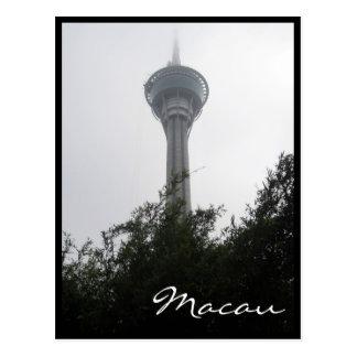 gris de la torre de Macao Tarjetas Postales