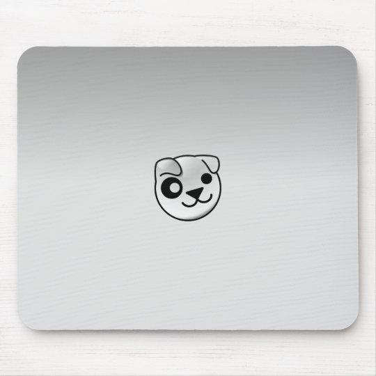 Gris de Linux del perrito Tapetes De Ratón