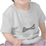 Gris de los huesos los regalos de Zazzle del MUSEO Camisetas