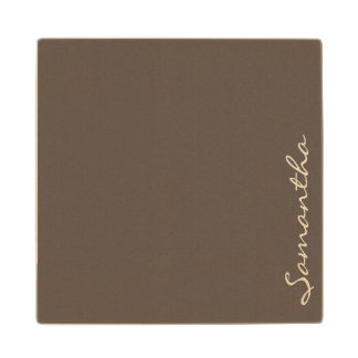 gris de moda elegante moderno simple elegante del posavasos de arce
