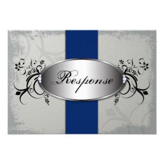Gris de pizarra del azul real de la tarjeta de RSV Invitaciones Personales