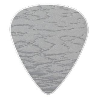 Gris de pizarra sólido púa de guitarra delrin blanco
