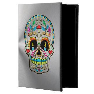 Gris de plata metalizada con el cráneo colorido