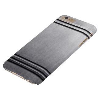 Gris de plata metalizada de acero del lustre del funda de iPhone 6 plus barely there