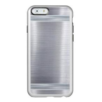 Gris de plata metalizada de acero del lustre del funda para iPhone 6 plus incipio feather shine