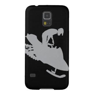 Gris de plata Snowmobiler Carcasa De Galaxy S5