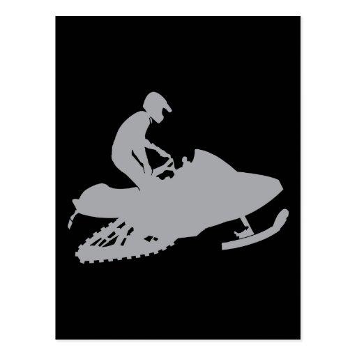 Gris de plata Snowmobiler Postal