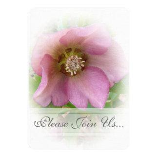 """Gris de Weddding del rosa cuaresmal/invitaciones Invitación 5"""" X 7"""""""
