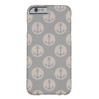 Gris del ancla náutica y poner crema naturales funda de iPhone 6 barely there