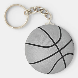 Gris del baloncesto gris llavero personalizado