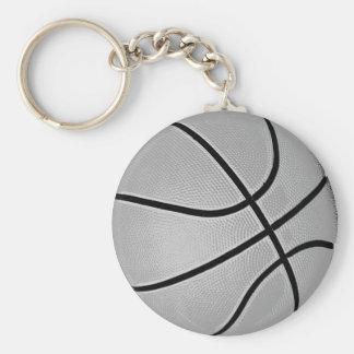 Gris del baloncesto/gris llavero redondo tipo pin