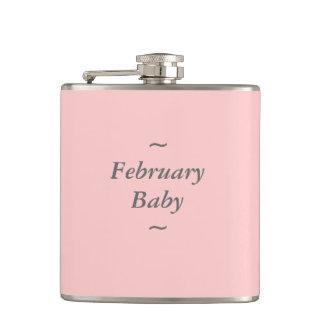 "GRIS del bebé de la MODA FLASK_ "" febrero"" EN ROSA"