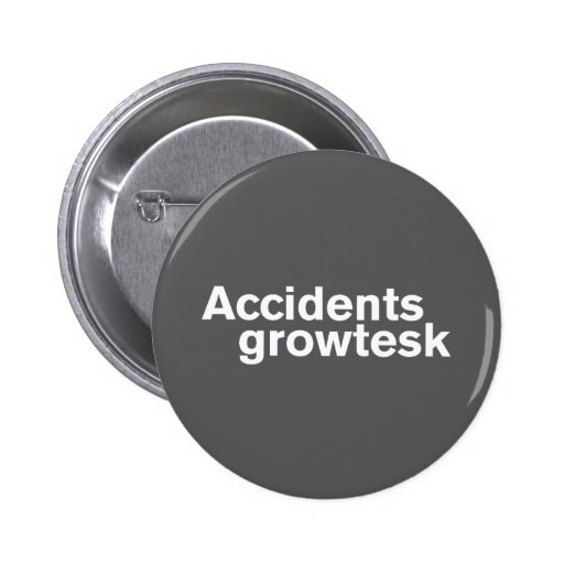 Gris del botón de los accidentes pin