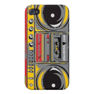 GRIS del caso de EYEPhone 4 del equipo estéreo por iPhone 4/4S Carcasas