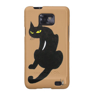 Gris del CAT NEGRO Samsung Galaxy SII Funda