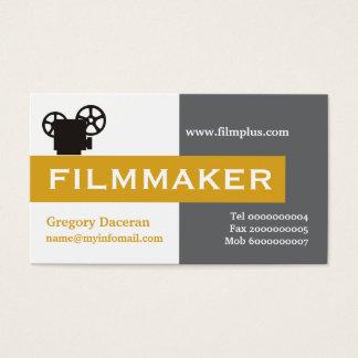 Gris del cineasta, llamativo tarjetas de visita