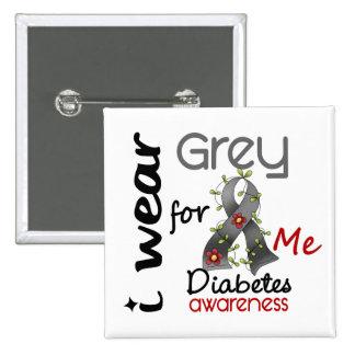 Gris del desgaste de la diabetes I para MÍ 43 Pin Cuadrada 5 Cm