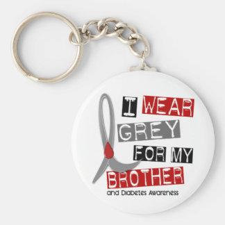Gris del desgaste de la diabetes I para mi Brother Llavero Redondo Tipo Pin