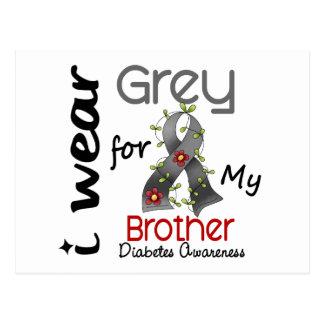 Gris del desgaste de la diabetes I para mi Brother Tarjeta Postal