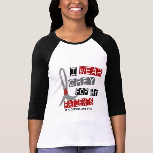 Gris del desgaste de la diabetes I para mis pacien Camisetas