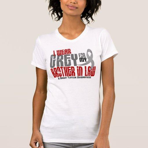 Gris del desgaste del tumor cerebral I para mi cuñ Camisetas
