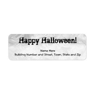 Gris del diseño del remolino de Halloween y negro  Etiqueta De Remite
