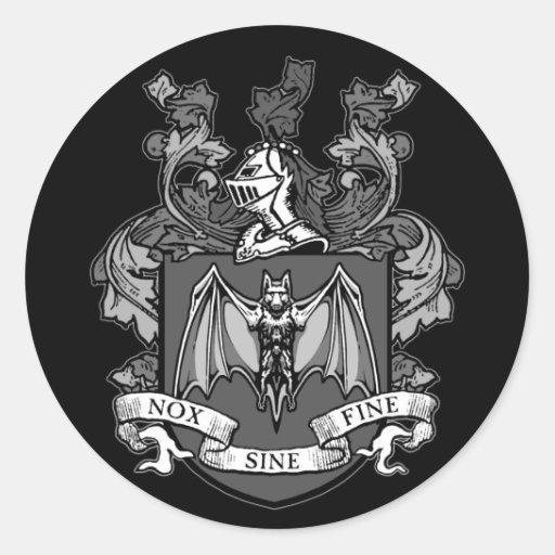 Gris del escudo del palo - pegatina