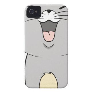 Gris del gatito de Kawaii iPhone 4 Carcasa