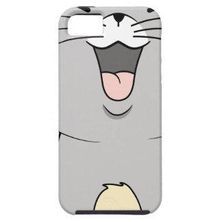 Gris del gatito de Kawaii iPhone 5 Funda