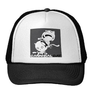 Gris del gato del caníbal gorras de camionero