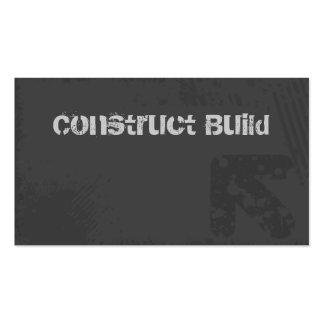 Gris del Grunge de la tarjeta de visita de constru