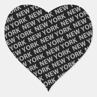 Gris del modelo de Nueva York Calcomanía De Corazón Personalizadas