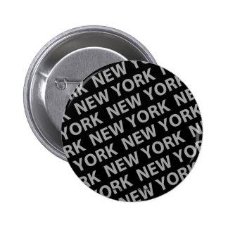 Gris del modelo de Nueva York Pin Redondo De 2 Pulgadas