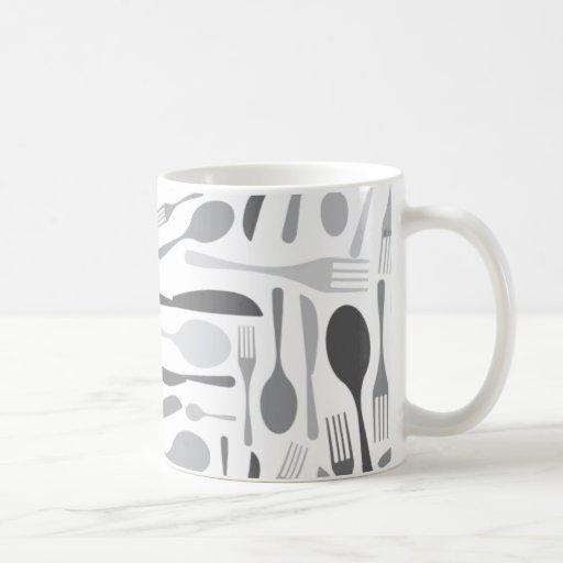 Gris del modelo del cocinero de la cocina de la bi taza de café