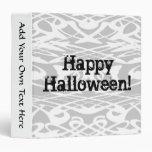 Gris del modelo ondulado de Halloween, blanco y ne