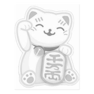 gris del neko del maneki postal