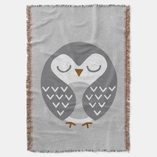 Gris del pájaro el dormir manta