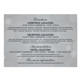 """Gris del platino de las tarjetas de información de invitación 4.5"""" x 6.25"""""""