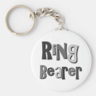 Gris del portador de anillo llavero personalizado