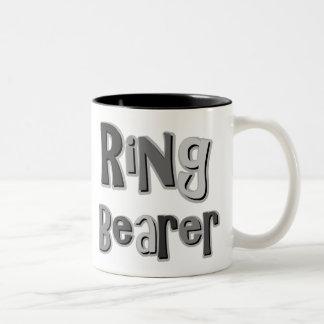Gris del portador de anillo taza de café