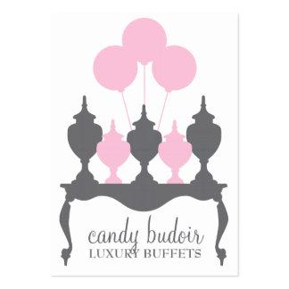 Gris del rosa de la comida fría de 311 caramelos tarjetas de negocios