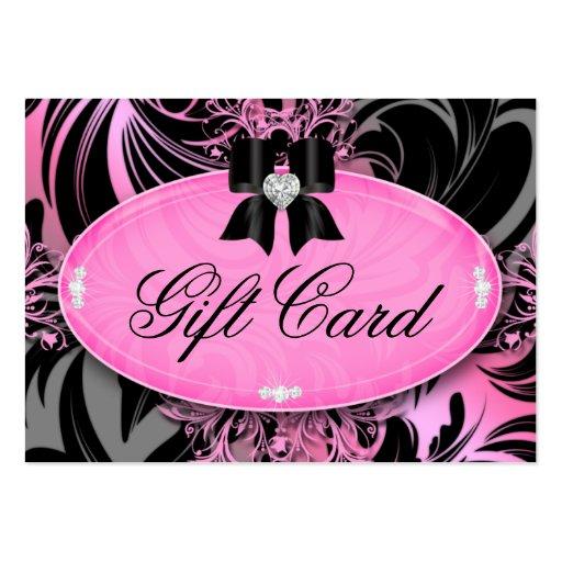Gris del rosa del arco del corazón de la tarjeta d plantilla de tarjeta de visita