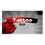 Gris del rosa rojo de la tarjeta de visita del tat