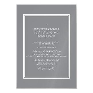 Gris del tiburón con el detalle blanco del boda invitaciones magnéticas